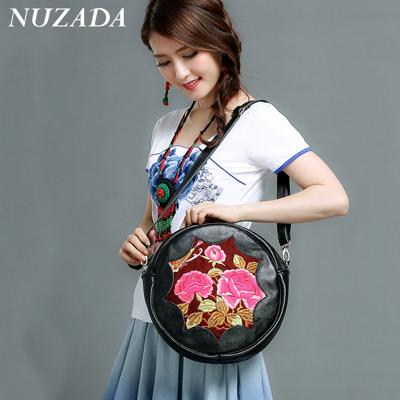 ФОТО Brands NUZADA Ladies Girls Women Hand bag Handbag Tote Satchel Shoulder Messenger Crossbody Bags  Genuine Leather djj-010