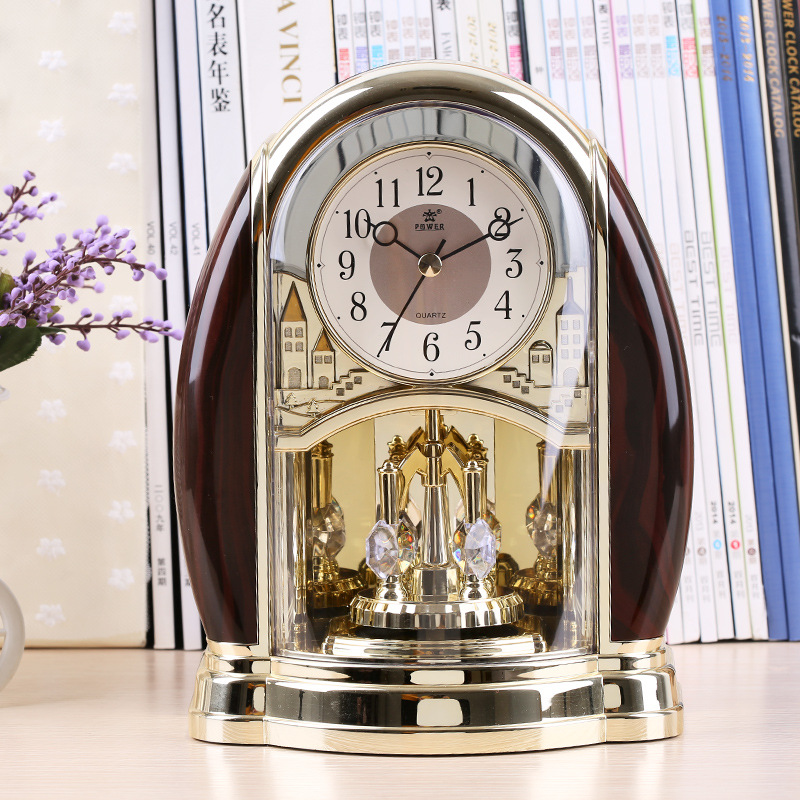 Christmas Decorations for Home Silent Clocks and Watches Antique Creative Clock Garden Decorative Clock European artistic orname