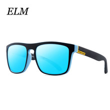 ELM TAC Lens Polarized Sunglasses Men Women Square Frame UV400 Protection Vintage Brand Design Female Eyewear Driving Outdoor(China)