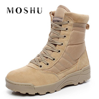 Men Winter Military Combat Boots Army Desert Ankle Boots Tactical Lace Up Outdoor Male Shoes Chaussure
