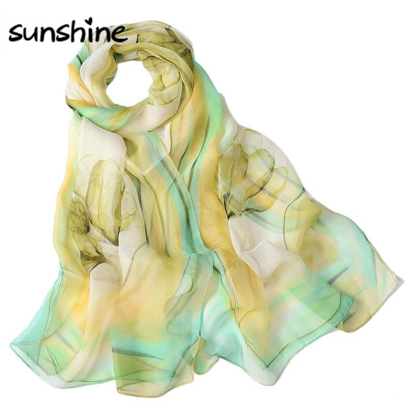 Fashion 2018 Summer Scarf Women Chiffon Long Shawls And Scarves Girls Lady Luxury Printed Wrap Shawl Scarf Pashmina #Zer