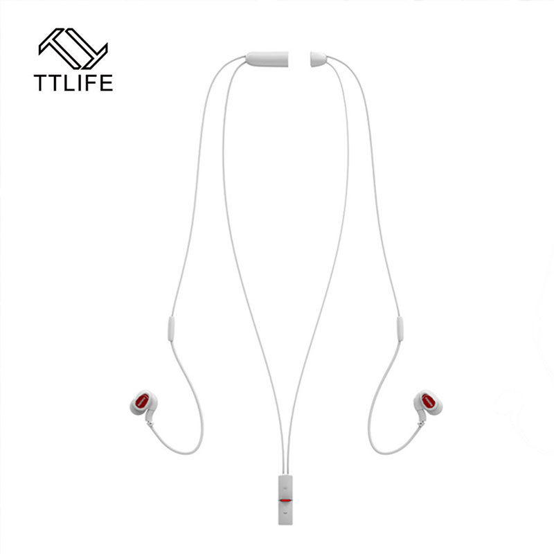 2017 Fashion Wireless Bluetooth Necklace Model Earphone Sport Stereo Noise Canceling Earhook Headset with MIC for Smartphones original fashion bluedio t2 turbo wireless bluetooth 4 1 stereo headphone noise canceling headset with mic high bass quality