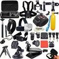 GoPro Аксессуары комплект для xiaomi yi hero 4/3 +/3 sjcam/sj4000 действие спорт камеры грудь глава ремень + монопод + поплавок рукоятки