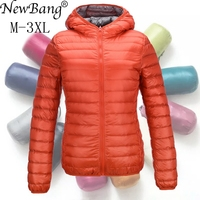 NewBang Down Coat Women Ultra Light Down Jacket Feather Jacket Women With Carry Bag Travel Double Side Reversible Jackets Plus