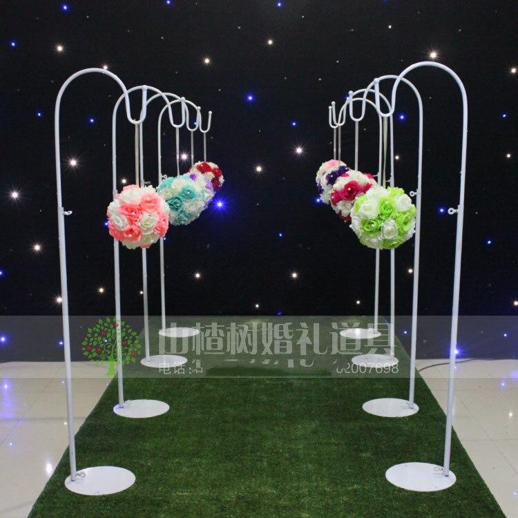 2019 Wedding Road lead frame/wedding decoration,10pcs /lot,lead frame for wedding decor wedding props T road flower rack