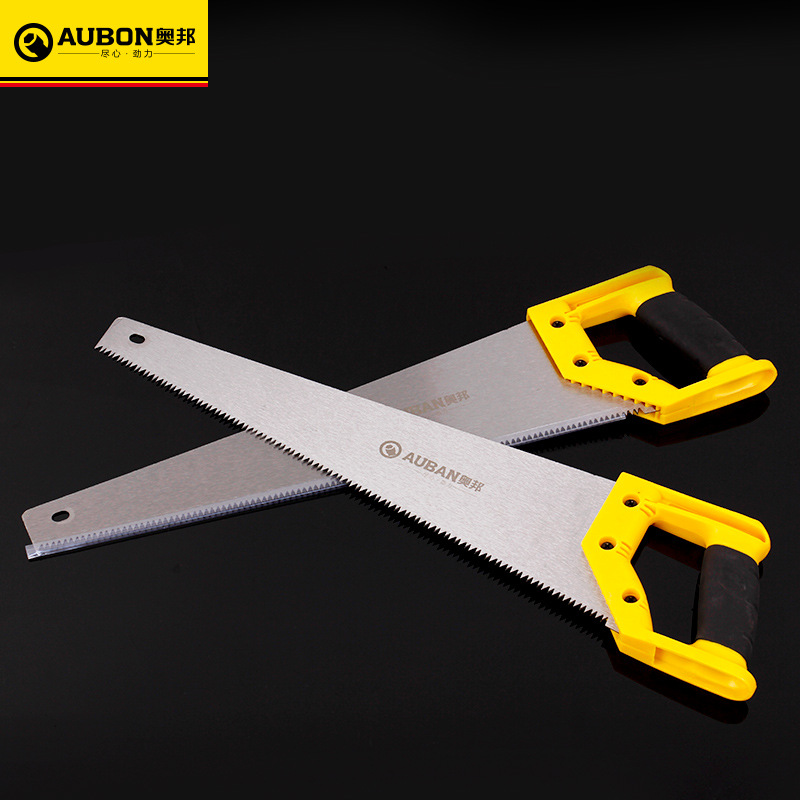 AUBON Hand Saw 45cm/18'' Universal Handsaw DIY Hacksaw Manganese Blade For Wood Plastic ABS Woodworking Hand Tools allsome 9 inch adjustable woodcraft metal blade spoke shave plane manual wood working hand tool saw blade gray iron manganese