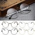 New Vintage Oval Armação dos óculos Homem Mulheres Limpar Full-Rim Óculos de Vidro Liso