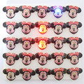 25pcs/lot Mouse cartoon led badge minnie flashing brooch,minnie mouse party supplies light ,children party decoration