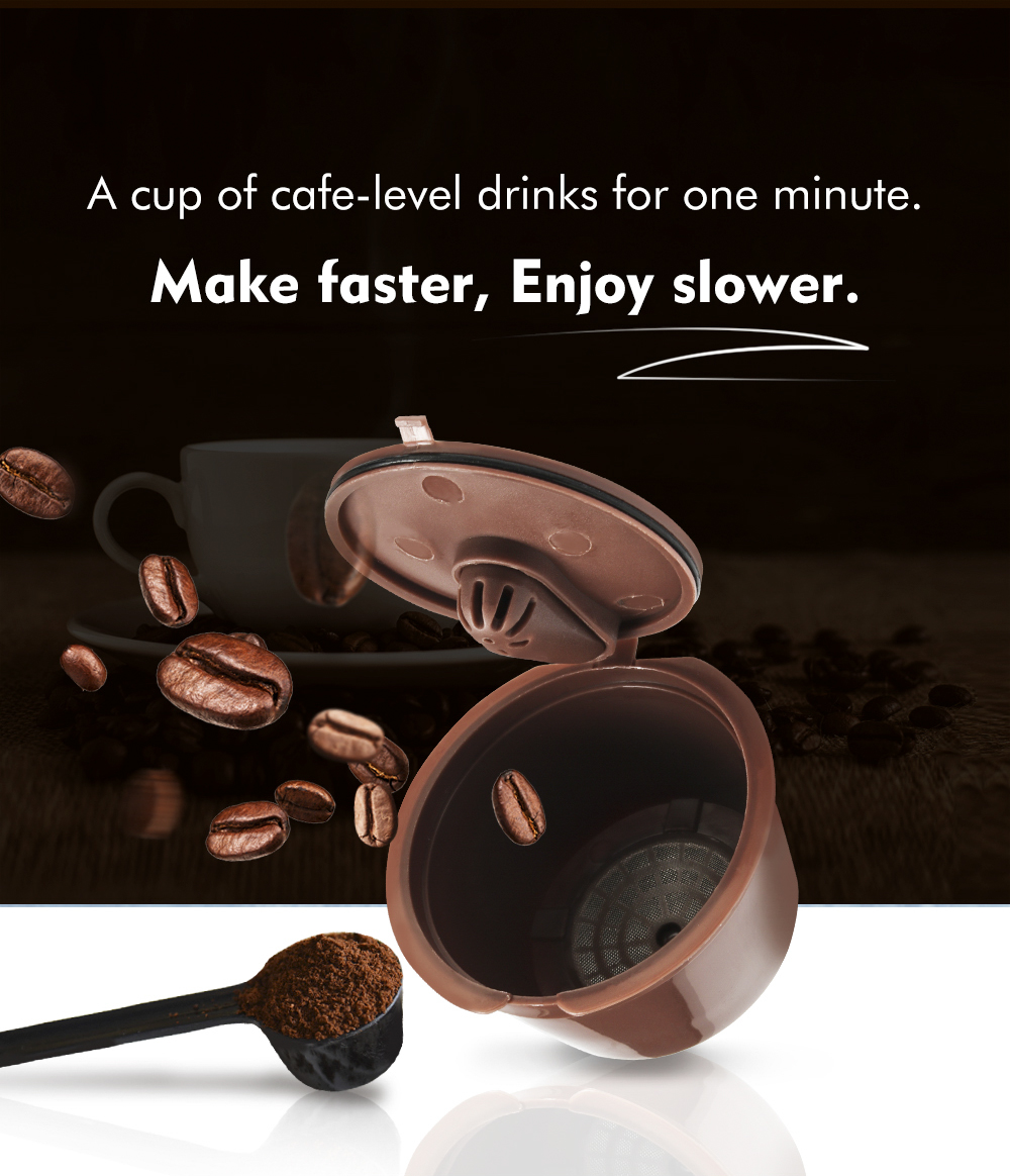 3rd Reusable Dolce Gusto Coffee Capsule 3rd Plastic Refillable Dolce Gusto Coffee Capsule Fit for Nescafe Coffee Machine