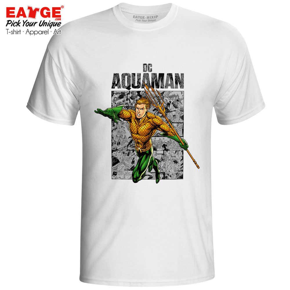 Aquaman Arther É Incrível Camiseta Super hero Estilo Comics Super hero Impressão Pop T-shirt Novidade Rocha Ocasional Unisex Dos Homens mulheres Tee