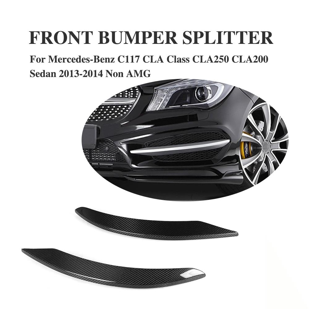 2PCS Carbon Fiber  Fender Trims Side Bumper Decoration  for Mercedes Benz C117 CLA Class CLA250 CLA200 Sedan 2013-2014 Non AMG nike sb бейсболка nike sb performance grey one size