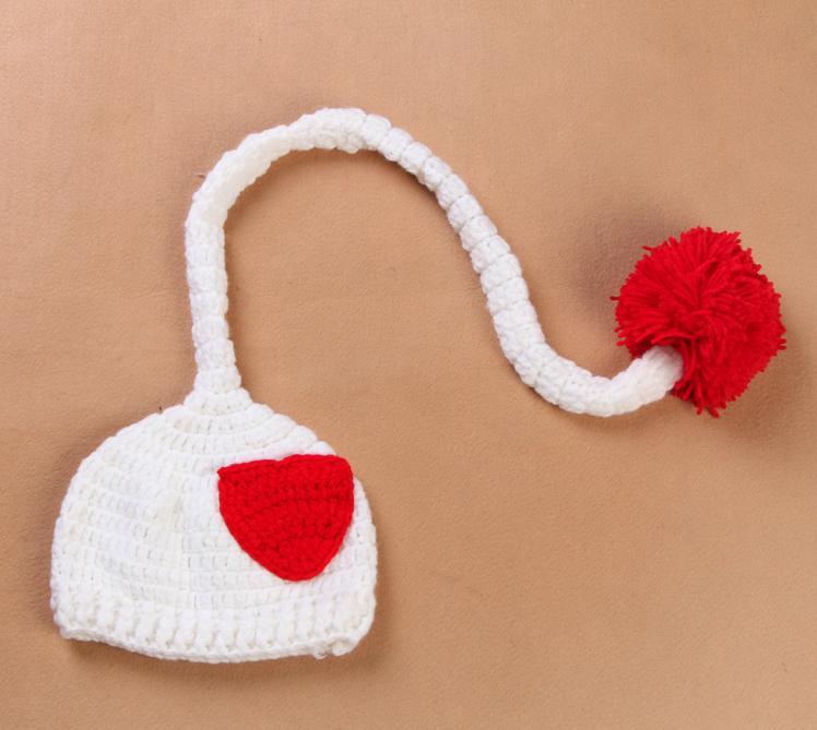▻Novedad contraste color corazón infantil niños bebés niñas crochet ...