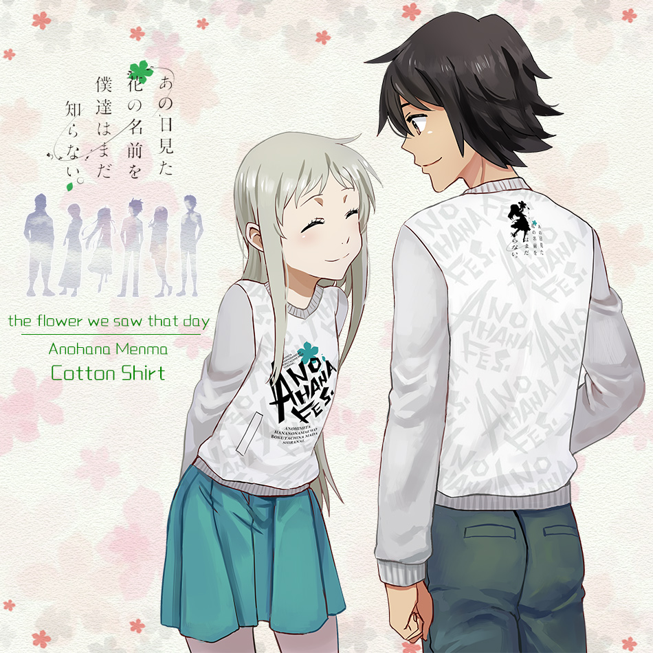 Moeyu Anime Anohana The Flower We Saw That Day Long Cotton T Shirt Fashion Autumn Active Men Women Clothing