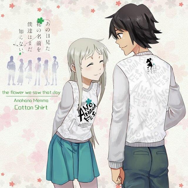 04bc2c3f45 Moeyu Anime Anohana  The Flower We Saw That Day Long Cotton T-shirt T Shirt  Fashion Autumn Active Men Women Clothing