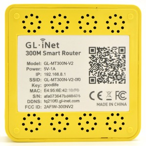 Image 2 - GL. iNet MT300N v2 MTK7628N 802.11n 300 Mbps Wireless Mini WiFi Router USB OPENWRT Router Wi Fi Repeater Interne Antenne OPENVPN