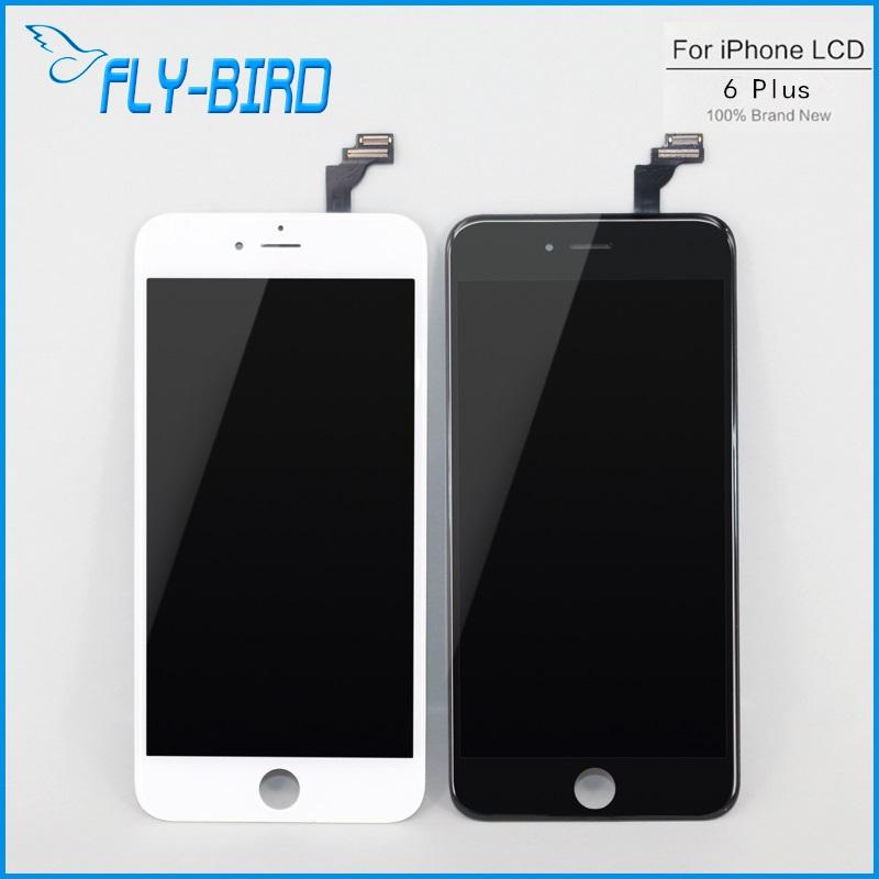 Prix pour 5 PCS/LOT 5.5 ''Lcd Pour Apple iPhone 6 Plus Affichage Lcd Avec Digitizer Écran Tactile Assemblée Noir et Blanc livraison Gratuite