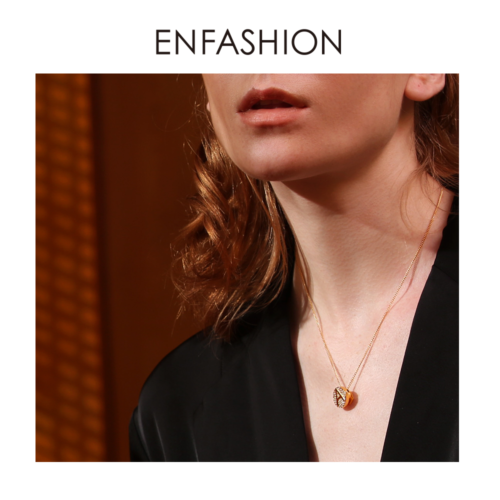 Enfashion Letter Initial Pendants Necklace Stainless Steel Gold Color Letter Charms Necklaces For Women Fashion Jewelry 188002Pendant Necklaces   -