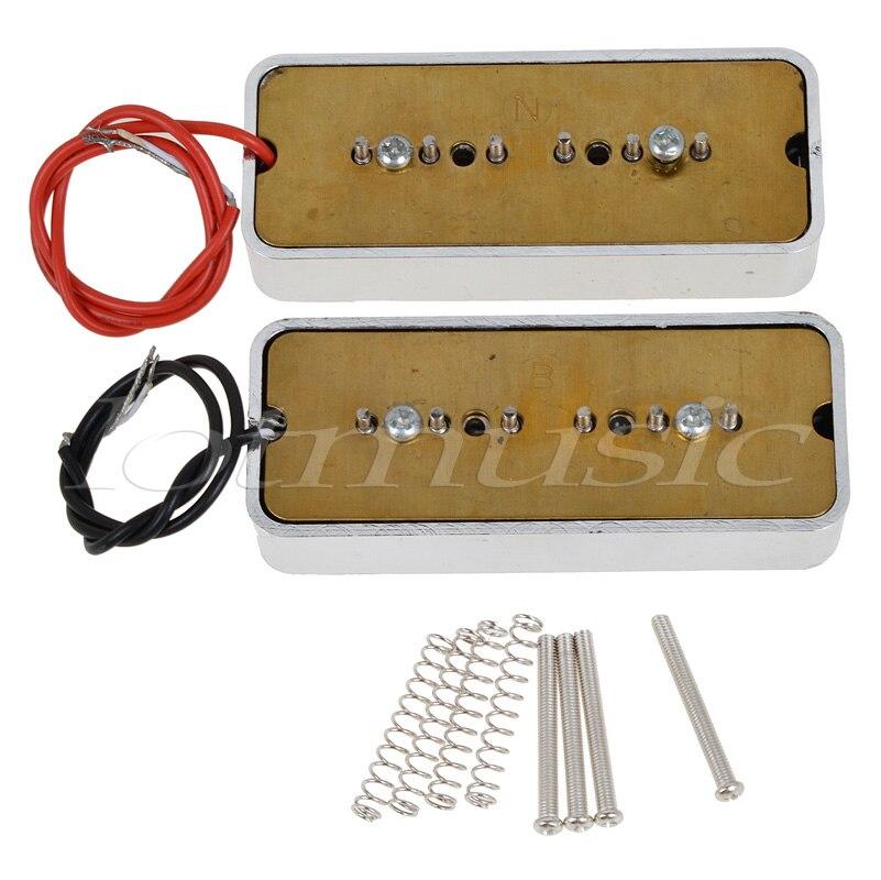 Kmise 3 Sets guitare électrique pick-up P90 Soapbar pick-up simple bobine cou pont pour pour guitare électrique - 4