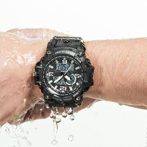 Image 5 - חדש Youpin חיצוני כפול תצוגה דיגיטלית שעון מקורי מיובא תנועת multi פונקצית חיוג כפול זמן תצוגה עמיד למים
