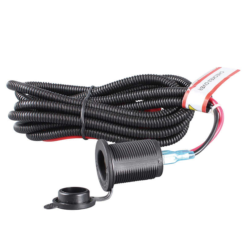 SeaForce 1 Set Universal 12V Car Cigarette Lighter Socket With High Quality Wiring Harness Heat Resistance Plastic Car Accessory