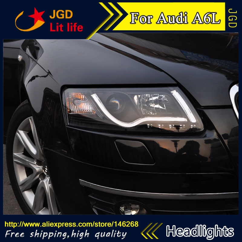 Бесплатная доставка ! Стайлинга автомобилей СИД спрятал Рио СИД головной корпус фары лампы для Audi A6L 2005-2012 би-ксенон ближний пучка объектива