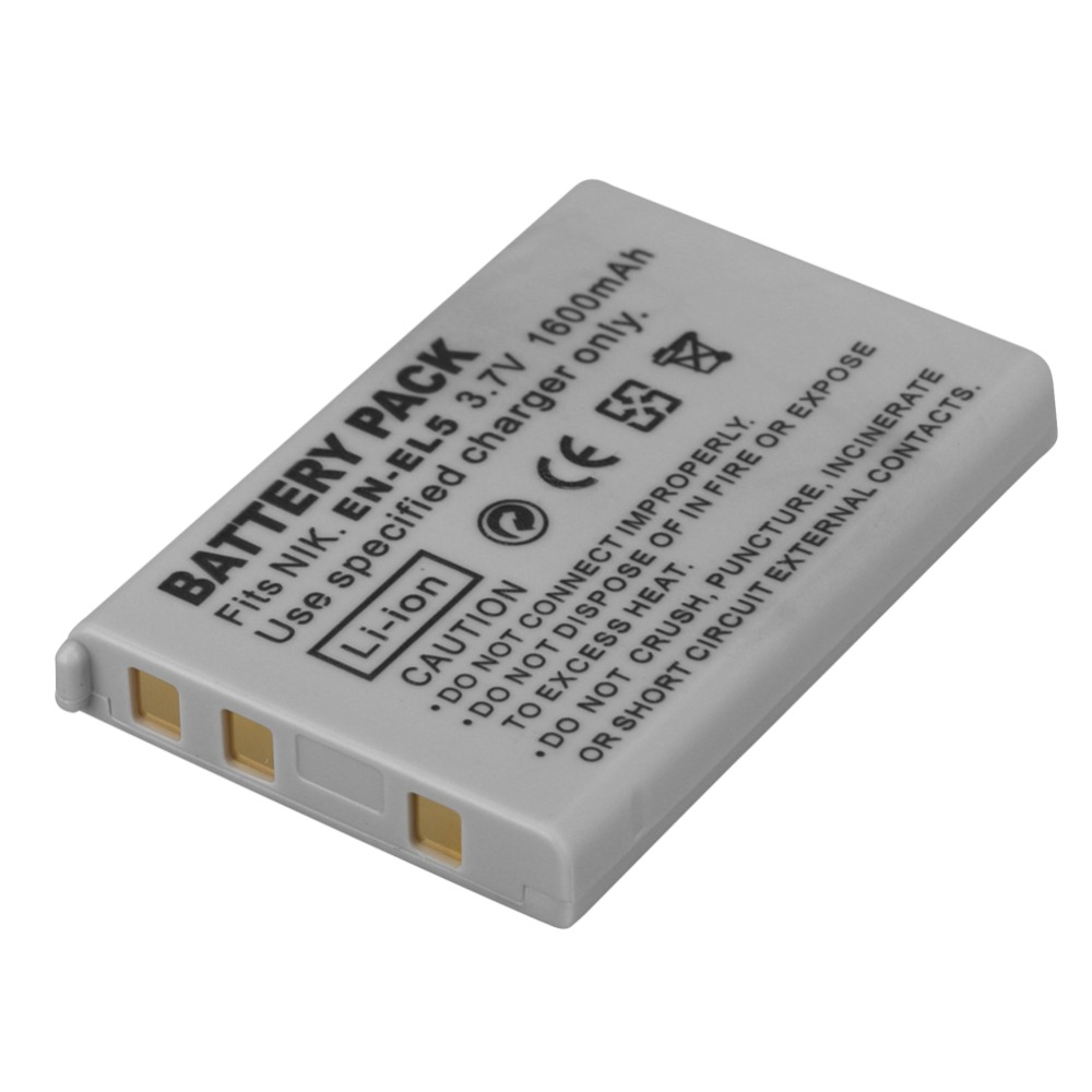 1PC 1600mAh EN-EL5 Digital Camera Battery Pack for Nikon Coolpix P4 P80 P90 P100 P500 P510 P520 P530 P5000 P5100 5200 7900 P6000 80 1600