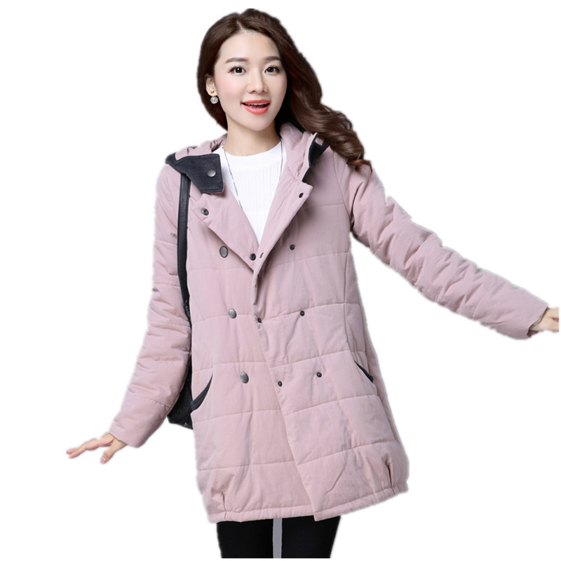 Women Winter Coat Thickening Cotton-Padded Clothing Hooded Parkas Casual Warm Jacket Women Large Size Coat Chaquetas Mujer C3204 2017 winter women plus size in the elderly mother loaded cotton coat jacket casual thickening warm cotton jacket coat women 328