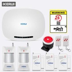 KERUI Wireless Phone APP Telecomando Messaggio Push Kit di Sicurezza Domestica Contact ID Protocollo di Auto Dial W19 GSM GPRS Allarme sistema di