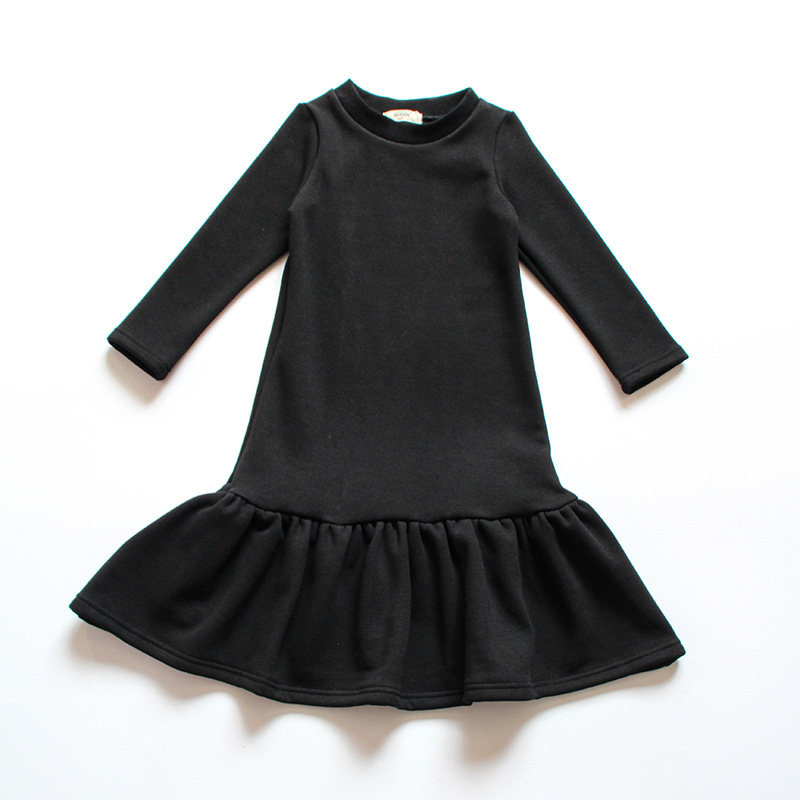 71ccdbfba7e1c 2019 New Brand Baby Girls Dress Spring Kids Dresses for Girls Cotton  Children Long Style Dress Ruffles Toddler Clothes,#3800