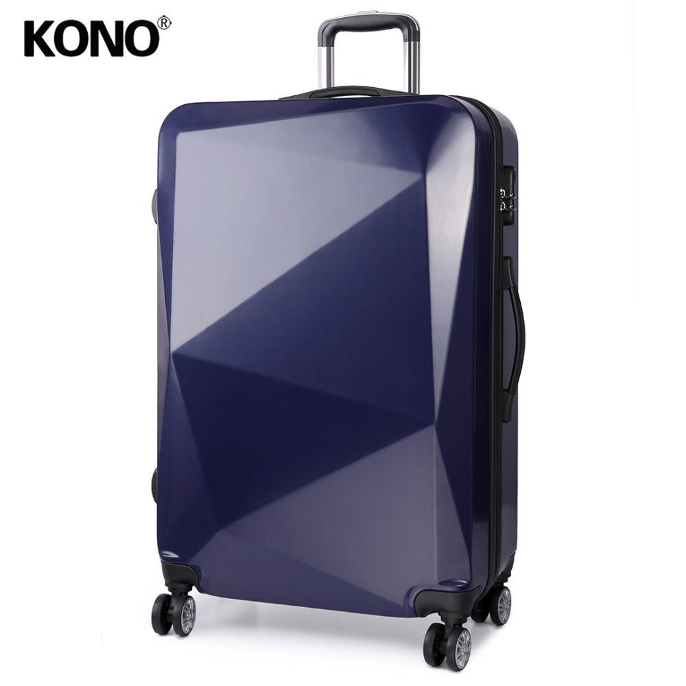 KONO Travel Suitcase Rolling Luggage Check In Carry On Trolley Case Hand Bag Hard Shell PC 4 Wheels Spinner 20 24 28 Inch K6671L
