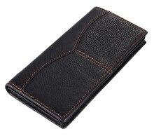 цена на 8059A  busniess man style vintage large capacity long wallet purse 100% genuine leather Black color