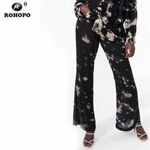 купить!  ROHOPO Женщины Уличная Одежда Печатный Clould Flare Брюки Готический Винтаж Полная Длина Осень Повсе
