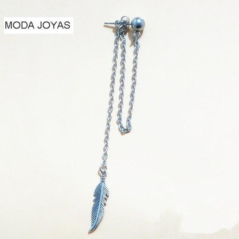 1pcs KPOP BTS Earring Bangtan Boys Album Leaf Shape SteamPunk Stud Earrings Korean Jewelry Accessories For Men And Women