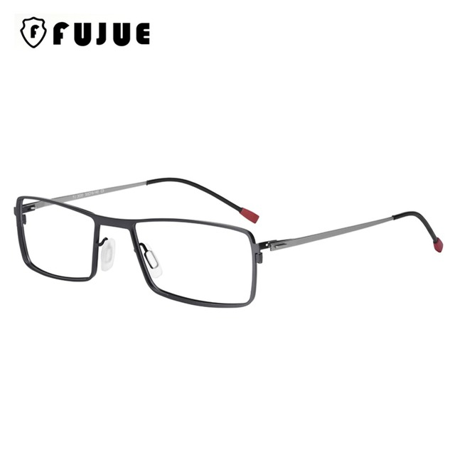 9fd9d3544737c FUJUE Metal Fashion Eyeglasses Frame Optical Glasses Rectangle Computer Reading  Eyewear Frames Unisex Spectacle Glasses FJ3030