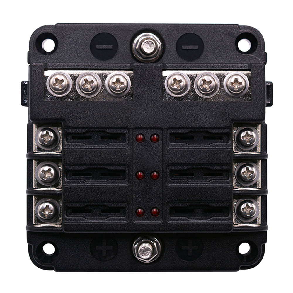 hight resolution of dropshipping 12 24v universal boat fuse panel with led warning indicator damp proof cover st 6 way fuse block for car boat in fuses from automobiles