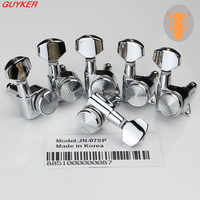 New Chrome Guitar Locking Tuners Electric Guitar Machine Heads Tuners JN-07SP Lock Silver Guitar Tuning Pegs ( With packaging)