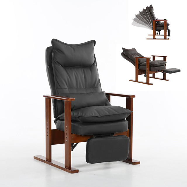 lounge chair for living room fold up beach chairs upholstered armchair brown finished leg wooden low seat contemporary furniture reclining recliner