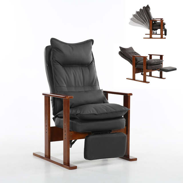 US $229.0 |Upholstered Armchair Chair Brown Finished Leg Wooden Low Seat  Contemporary Lounge Chair Living Room Furniture Reclining Recliner-in  Living ...