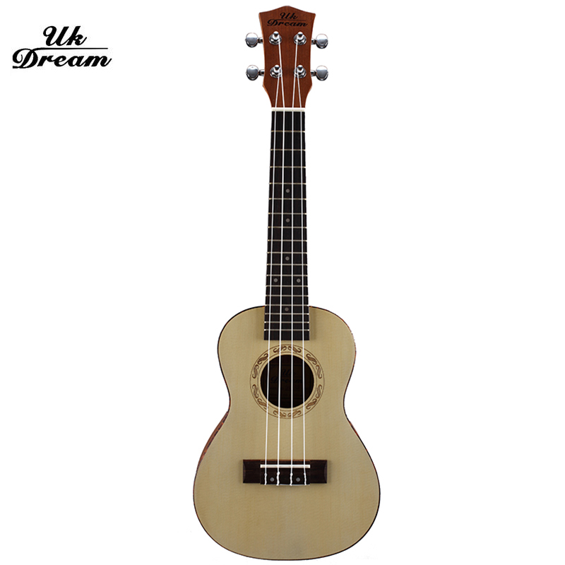 23 inch Soprano Ukulele Small Rosewood Guitar Four Strings 15 Fret Natural Rosewood Ukelele with Accessories UC-318 waterproof ukulele bag case backpack ukelele guitar accessories blue 23 24 inch 66 26cm