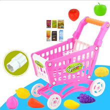 15Pcs Supermarket Pretend & Play Shopping Cart Toys Set Children Home Educational Toy Child House Sets