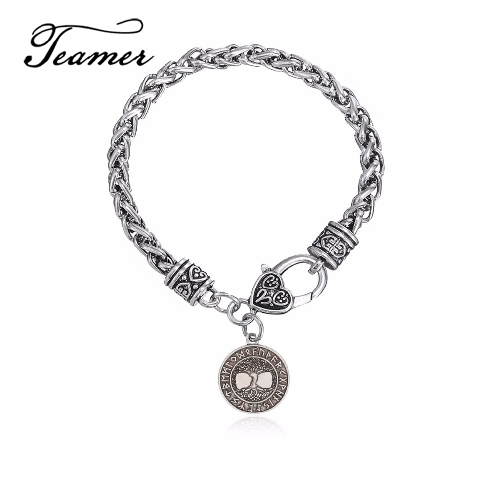 Us 2 83 5 Off Teamer New Antique Tree Of Life Supernatural Bracelet Pendant Talisman Amulet Viking Runes Mens Wicca Jewelry Birthday Gift In Charm