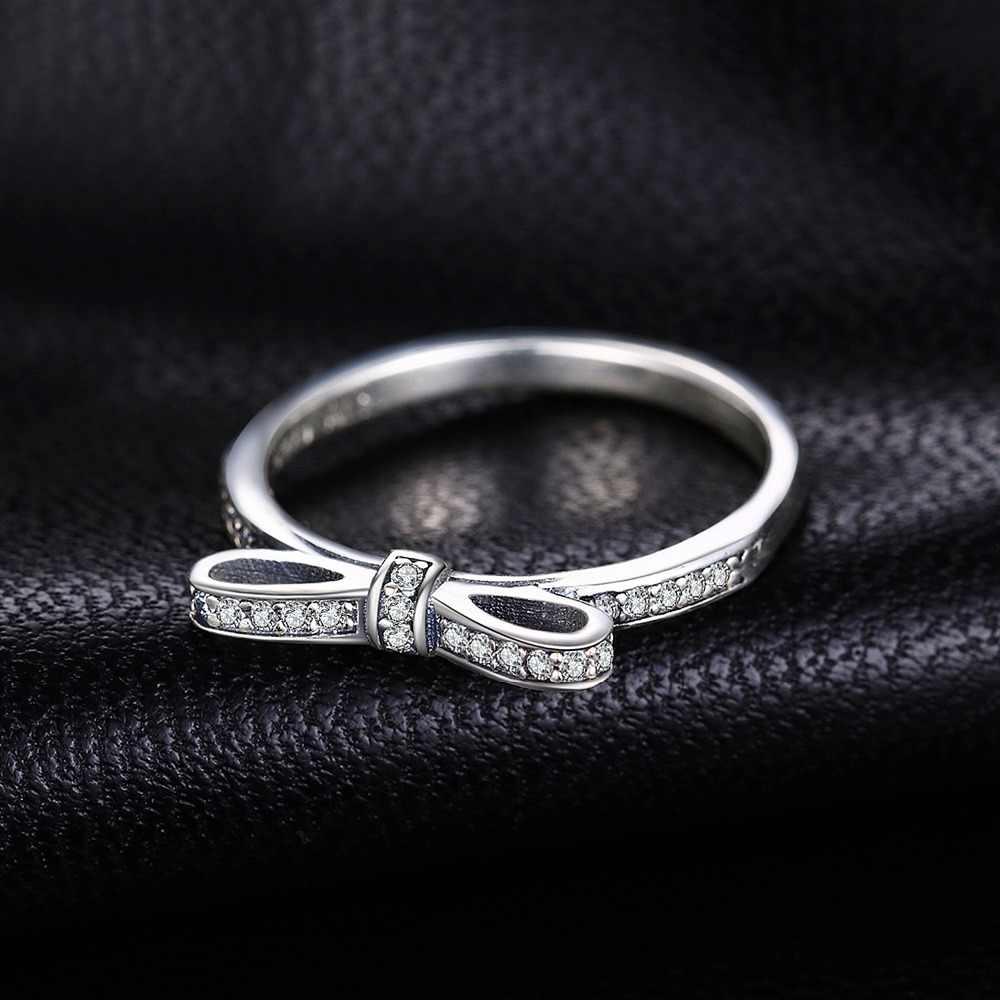 Jewelrypalace Strik Zirconia Ring 925 Sterling Zilveren Ringen Voor Vrouwen Stapelbaar Ring Zilver 925 Sieraden Fijne Sieraden