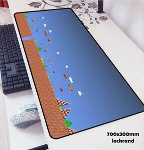 Image 1 - Mario alfombrillas de ratón locrkand para ratón, alfombrilla para ratón de ordenador portátil, 70x30cm, para gaming, para teclado, portátil