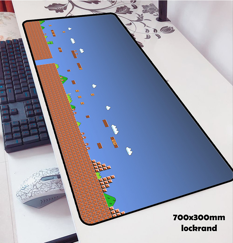 mario <font><b>mouse</b></font> pads locrkand pad to <font><b>mouse</b></font> notbook computer <font><b>mousepad</b></font> 70x30cm <font><b>gaming</b></font> <font><b>mousepad</b></font> gamer to <font><b>keyboard</b></font> laptop <font><b>mouse</b></font> mats image
