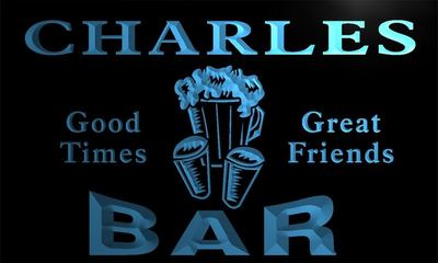 x0008-tm Charles Bar Beer Mugs Custom Personalized Name Neon Sign Wholesale Dropshipping On/Off Switch 7 Colors DHL