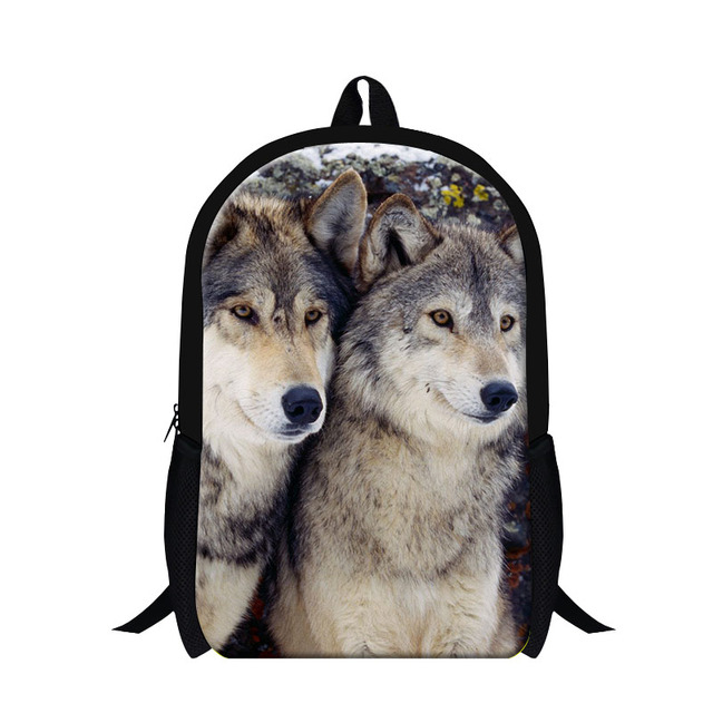 Dispalang wolf 3D print school backpack for boys,cool school book bag children,stylish middle school bag for girls cute mochila