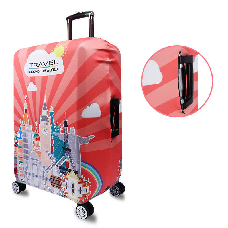 Hot Brand Luggage Cover Cartoon Cute Suitcase Elastic Cover Fashion Travel Accessories For18-32Inch Trolley Case Essential Gifts