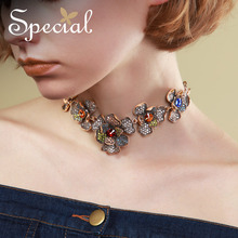Special Brand Exotic Flower Necklaces & Pendants Bohemian Long Necklace Statement Jewelry Gifts for Women S1711N