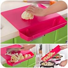 Gran oferta tabla de cortar con caja de almacenamiento de verduras tabla de cortar de plástico Panel de frotar frutas antideslizante para cocinas de hogar