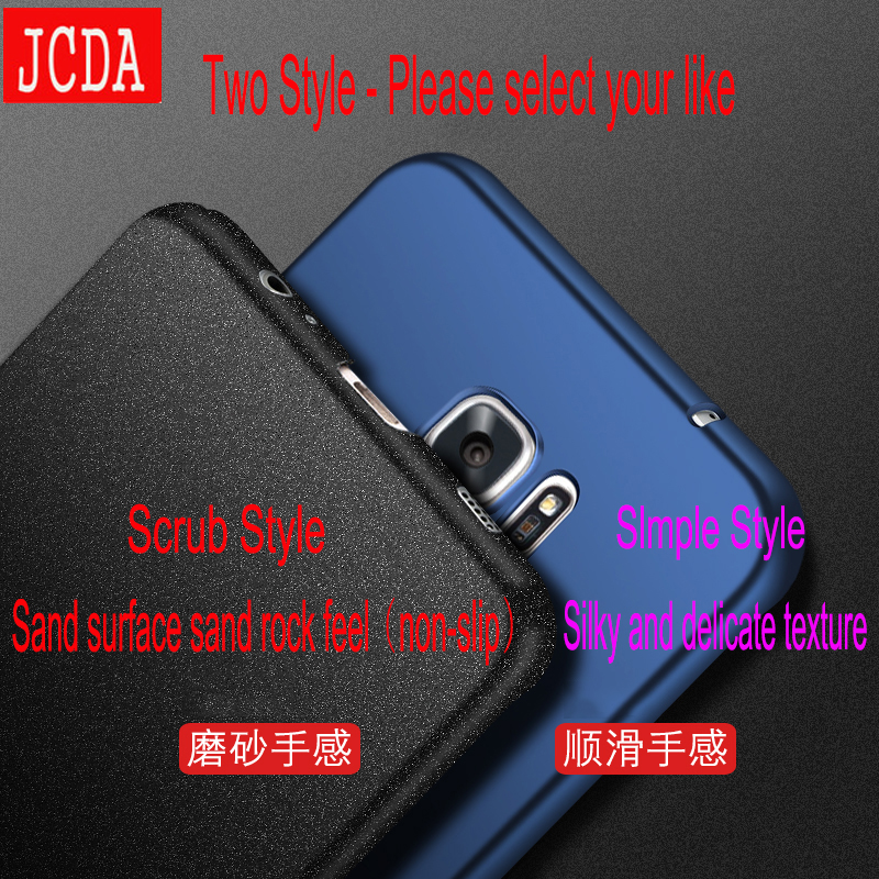 JCDA Brand For Samsung Galaxy S8 s6 s7 edge plus + S4 S5 NOTE 3 4 5 C5 C7 Mobile phone case Silicone cover Hard Frosted PC Back